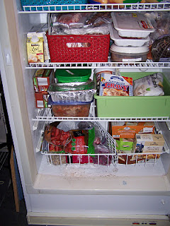 Freezer organization with baskets - view 2