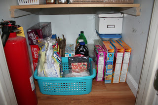 Pantry floor - notice the fire extinguisher