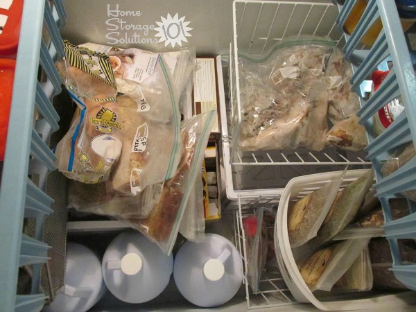 Using containers to organize your chest freezer (featured on Home Storage Solutions 101 & Organizing A Chest Freezer: Ideas u0026 Solutions