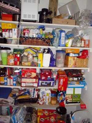Our bigger pantry before :(