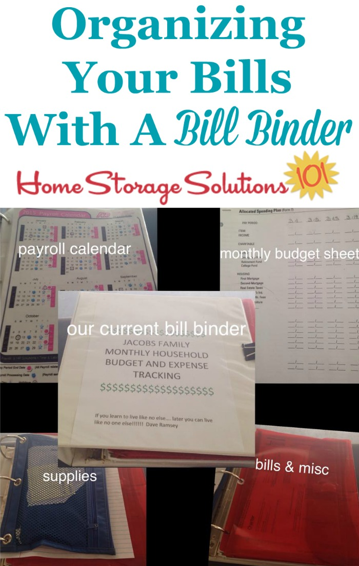 Tips for organizing your bills with a bill binder {on Home Storage Solutions 101}