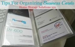 Organizing Business Cards