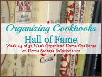 organizing cookbooks hall of fame