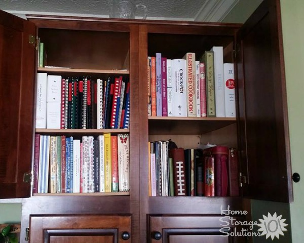 Organizing Cookbooks Inside Kitchen Cabinets {featured On Home Storage  Solutions 101}
