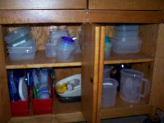 Organized plastic containers