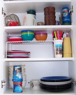 After - notice the shelf expander
