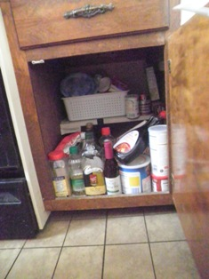 small cupboard Before