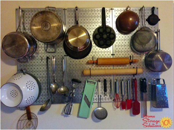 Hang Your Pots And Pans Utensils On Wall Like Julia Child With A Pegboard