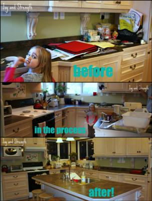 organizing the kitchen countertops: before and after pictures with