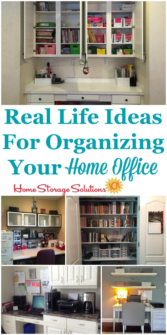 your home office. Real Life Ideas For Organizing Your Home Office, Showing Office Areas In The Kitchen