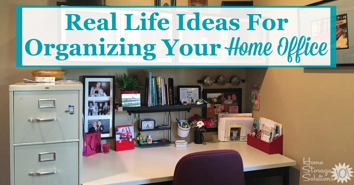 Real Life Ideas For Organizing Your Home Office, Showing Home Office Areas  In The Kitchen ...