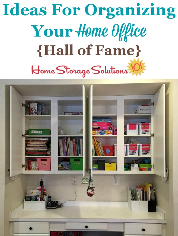 Hall Of Fame Showcasing Lots Of Real Life Ideas For Organizing Your Home  Office, ...