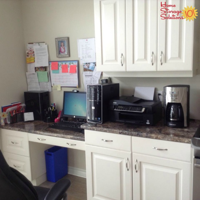 Home Office Located Within The Kitchen {on Home Storage Solutions 101}