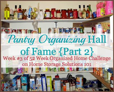 Pantry Organizing And Storage Ideas: Hall Of Fame {Part 2} on kitchen colors with white cabinets, bedroom ideas product, kitchen layouts with island, kitchen layout ideas product, pantry shelving product, galley kitchen ideas product, kitchen storage ideas,