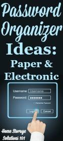 Password Organizer Ideas