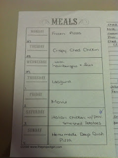 Meal Planning Worksheet Gozone Thousands Of