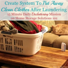 System To Put Away Laundry