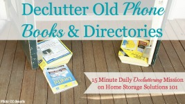 Declutter & Recycle Phone Books