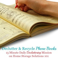 Declutter (& Recycle) Phone Books