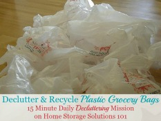 Declutter & Recycle Plastic Grocery Bags Mission