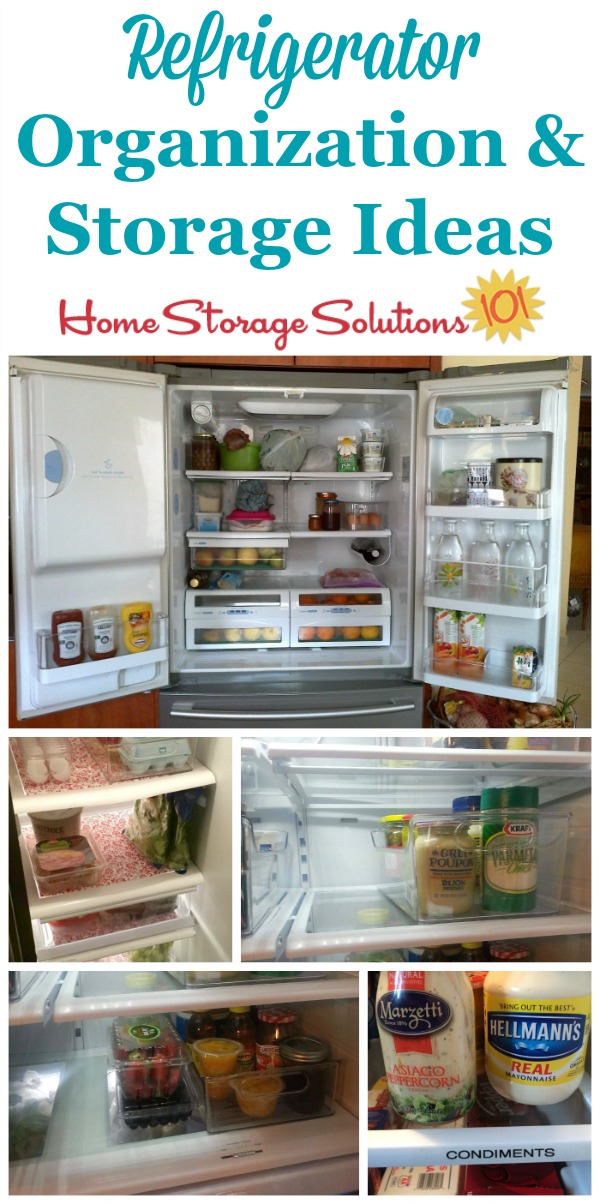 Real life refrigerator organization and storage ideas {on Home Storage Solutions 101}
