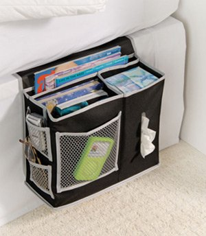 bedside remote control storage pocket