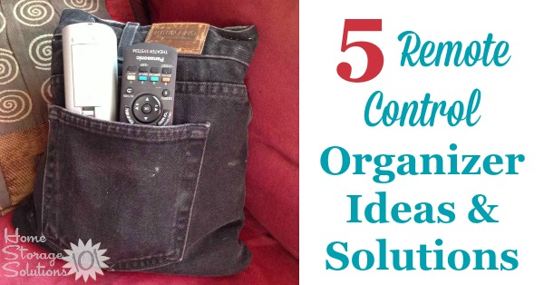 Remote Control Organizer Ideas & Solutions - including ideas for the living or family room, bedroom, DIY solutions and more {on Home Storage Solutions 101}