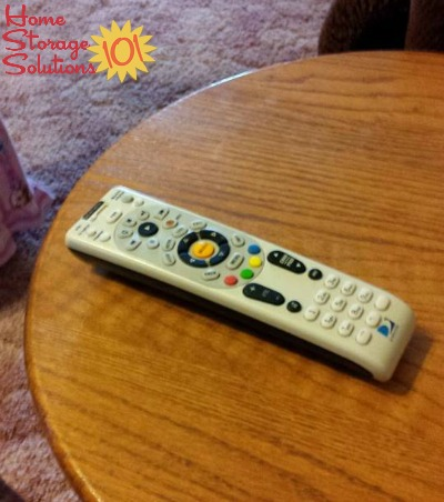 Make it a habit to always put your remote control back in the same place each time {on Home Storage Solutions 101}