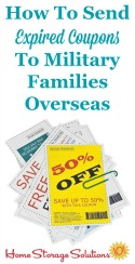 How to send expired coupons to military families