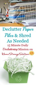 Shredding Paper Piles