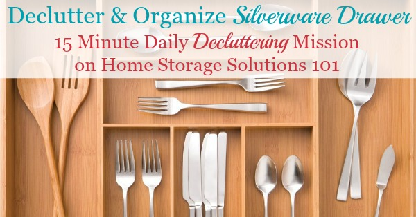 How To Declutter Organize Silverware Drawer
