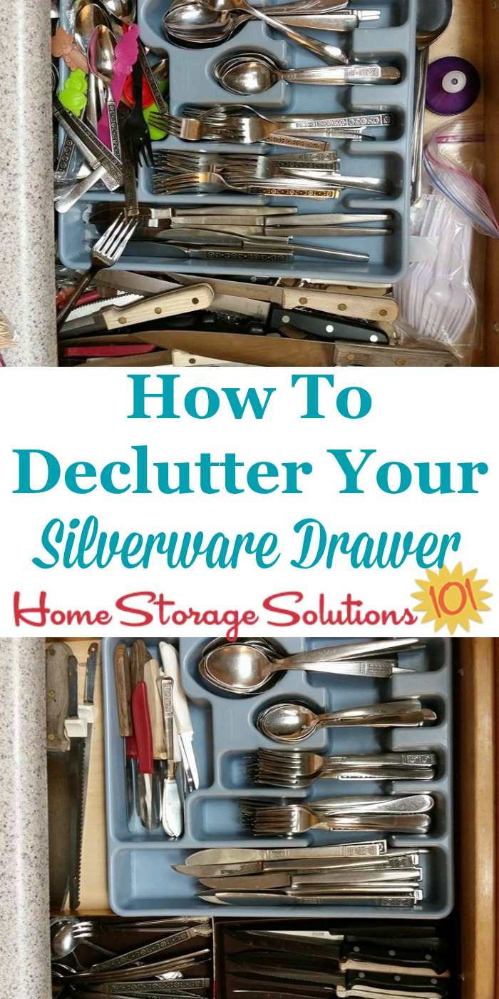 How To Declutter & Organize Silverware Drawer
