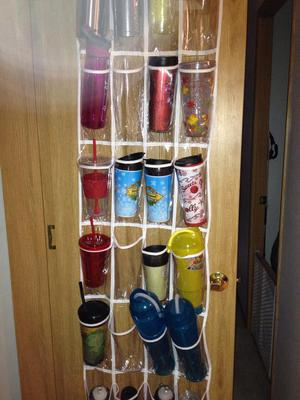So The Most Popular Idea Provided By Readers, And That Seems To Really Work  Long Term, Is To Put Up An Over The Door Shoe Organizer On The Back Of Your  ...