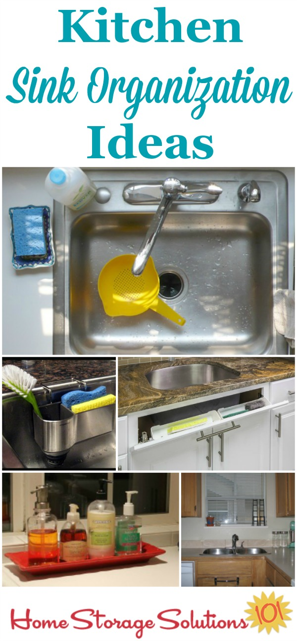 awesome Kitchen Sink Organization Ideas #3: Kitchen sink organization ideas to keep the top of your sink clear and  supplies easy to ...