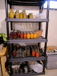 Home canned goods - before