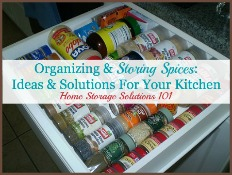Organizing & Storing Spices