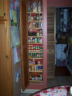 Spice cabinet - with door opened