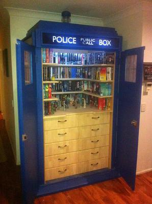 Tardis Bookcase Other Media Storage Idea