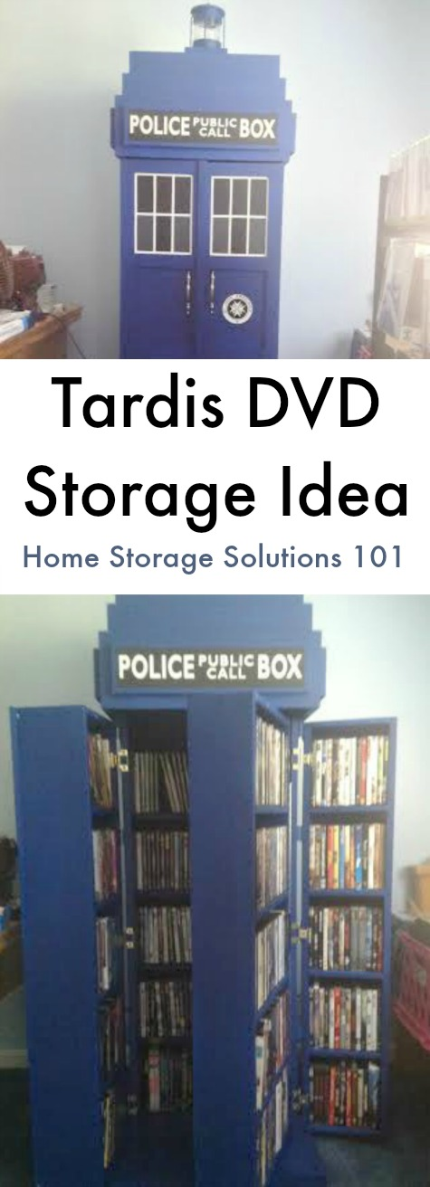 Tardis DVD storage idea