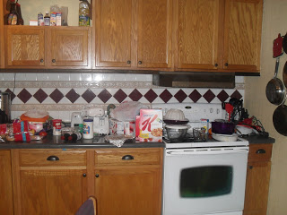 Before - see the counter clutter