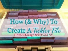 Tickler File