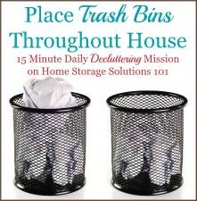 Place Trash Bins