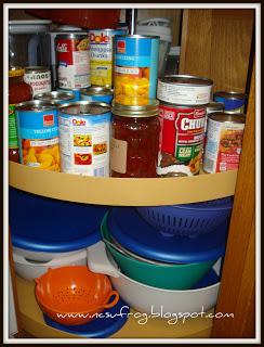 Use A Corner Cabinet Lazy Susan
