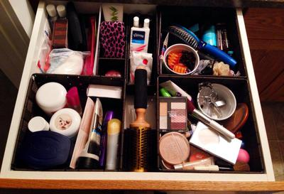 Use Baskets Or Boxes For Bathroom Drawer Storage