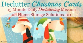 Declutter Used Christmas Cards