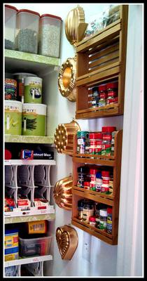 Wall Mounted Spice Rack Cleared Up Cabinet Shelf Space