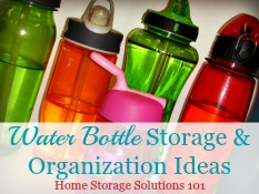 Water Bottle Storage