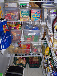 Keeping food in tubs for easy organization and storage