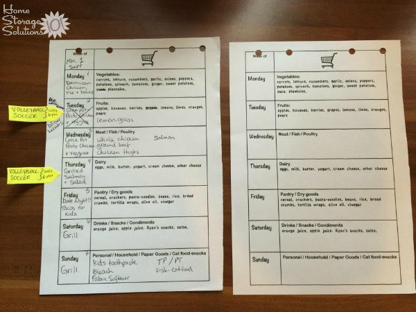 Meal planning worksheets can help you stay organized with your family's menu plan {featured on Home Storage Solutions 101}