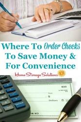Where To Order Checks